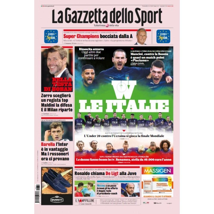 GAZZETTA DELLO SPORT - 11 Giugno 2019