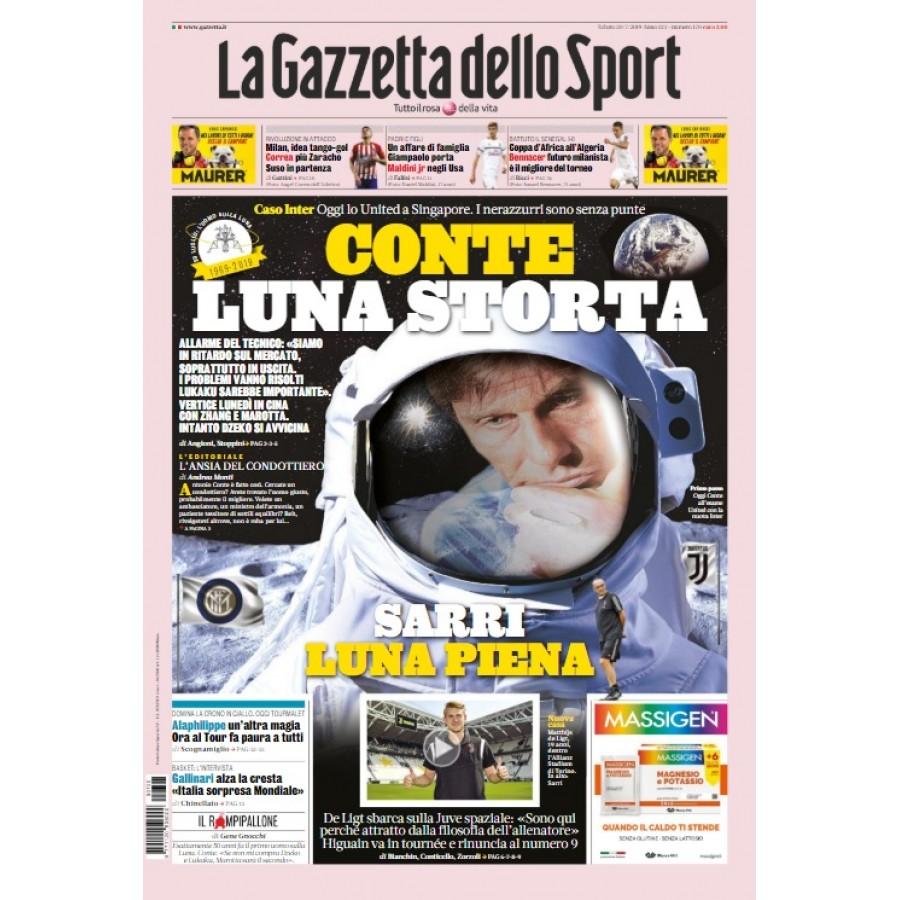 GAZZETTA DELLO SPORT - 20 Luglio 2019